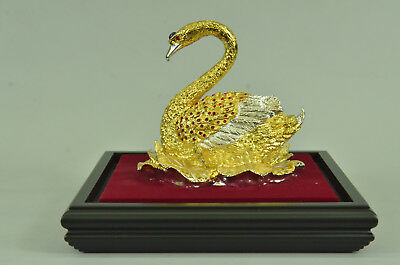 SUPER DEALFrench Empire Figural Winged Swan Bronze Detailed Decoation Ef