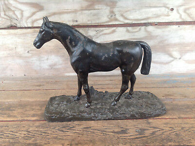 Very Cool Vintage Cast Iron Horse on Base