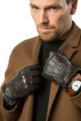 Luxury Dress Napa Leather Winter Gloves - Texting - Touchscreen – Cold Weather -
