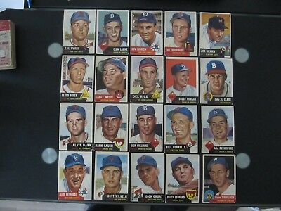 1953 Topps Baseball Card Lot Condition Finish Your Set (Buy One Or All)