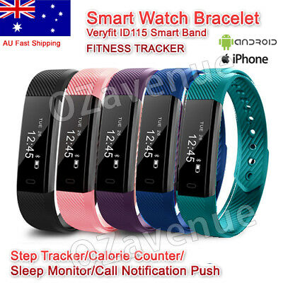 ID115 Bluetooth Smart Bracelet Watch Fitness Tracker Pedometer for IOS Android #