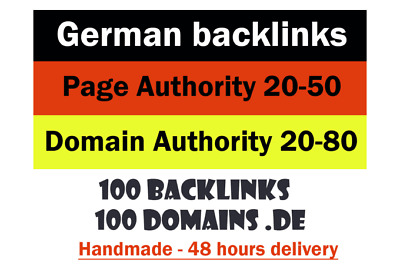 I Will German Backlinks From German De Authority Pages