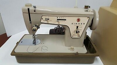 Singer 237 Sewing Machine Heavy Duty Fashion Mate Sews Great Tested Day of list