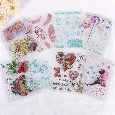 Alphabet Transparent Silicone Clear Rubber Stamp Cling Scrapbooking DIY CZ US