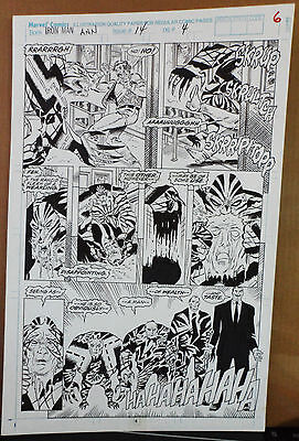Iron Man Ann #14 Page #4 1993 Original Comic Art By Tom Morgan-Fredericks-Marvel