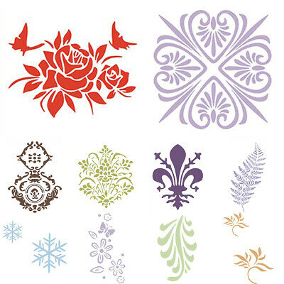 Reusable Wall Painting Stencil Home Upholstery DIY Template Flower Pattern
