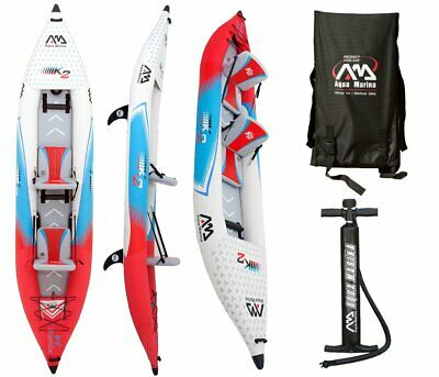 "Aqua Marina Betta 13,6 "" Professionnel Kayak 2 Personnes Gonflable Tours 412"