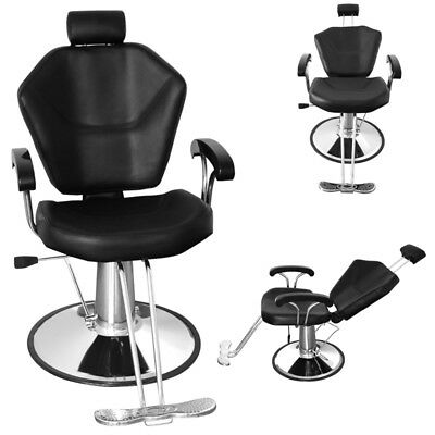 Reclining Barber Chair Hydraulic Salon Tattoo Styling Hairdressing Threading Spa