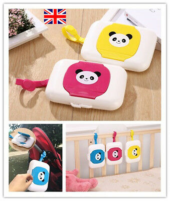 Baby Wipe Case Child Kids Wet Wipes Dispenser Box Travel Easy Carry Storage UK