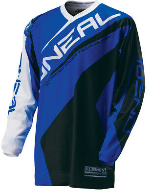 Oneal MX Motocross Shirt T-Shirt Element Race Jersey Blau Schwarz