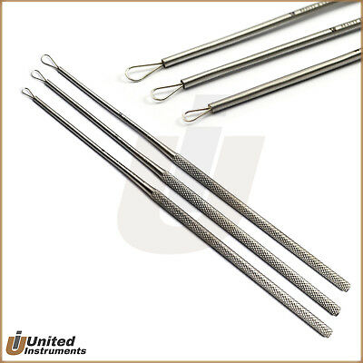 Set Of 3 Medical Ear Cleaner Loop Ear Wax Remover Tool Ear Pick Curettes ENT New