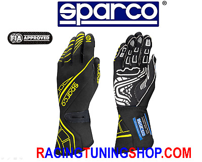 Guanti Auto Sparco Lap Rg-5 Omologati Fia Racing Gloves Handschuhe Black Yellow