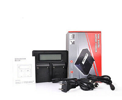 Dual LCD Battery Charger For Canon LP-E6 LPE6 EOS 5D II III 60D 7D 5DS R 80D 70D