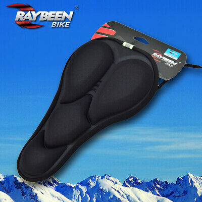 Road MTB Mountain Bike Bicycle Seat Saddle Cover Shockproof Gel Cushion BLACK