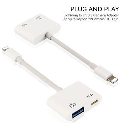 Lightning to USB 3 Camera Reader Adapter Kable For Apple Iphone 6 7 8 8 Plus X