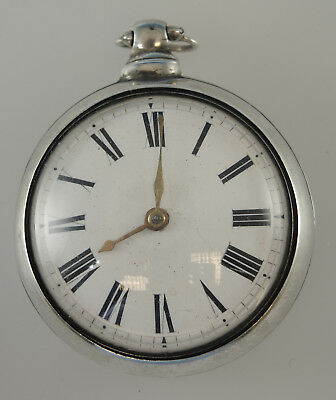 Silver Pair Cased Verge Fusee Pocket Watch. By Cameron, Liverpool 1823