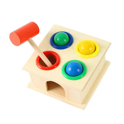 Hammering Wooden Ball Hammer Box Children Early Learning Educational Baby Toy