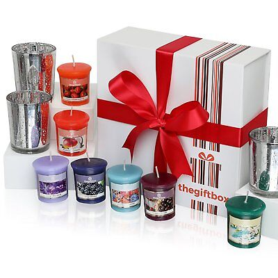 A Luxurious Scented Candle Gift Set by The Gift Box Containing 8 Beautifully and