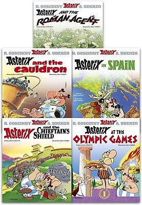 Asterix Omnibus Series 3 Collection 5 Books Set (Book 11-15) Olympic Games, Spai