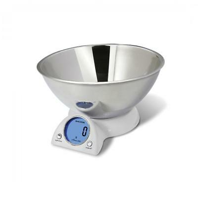 Salter 1060WHDR 2.5 Litre Stainless Steel Mixing Bowl Cooking Scale with Display