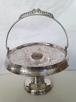 Vintage Wm Rogers Silver Plate Bride's Plate Etched Flowers