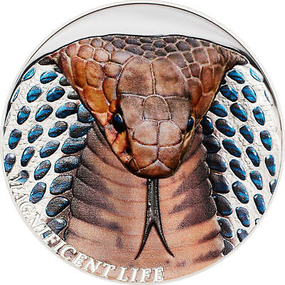 COBRA, Magnificent Life, $5 Cook Islands 2017 Silver, 1oz with box