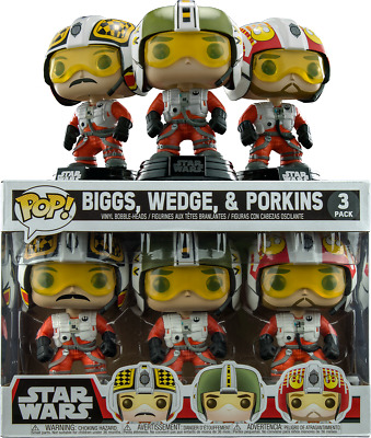 Coin /& porkins ** EXCLUSIF ** Funko Pop X-wing Pilots 3-Pack Biggs Star Wars