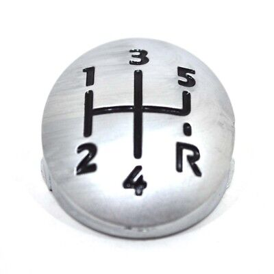 Cover Insert For Renault Clio Megane LAGUNA 5 Speed Gear Shift Knob Chrome P18