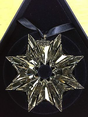 Swarovski 2003 Christmas ornament * Mint in Original Box