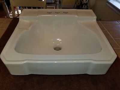 Vintage 1961 CP Co. White Porcelain Ceramic Bathroom Sink (19 x 17) 57 Years Old