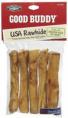 Good Buddy Rawhide Sticks, 5 inch - 5 per pack -- 12 packs per case.