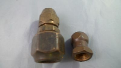 Vintage Brass Water Hose Adapter and Water Sprayer