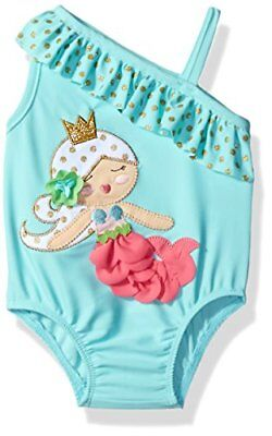 Mud Pie Baby Girls' Swimsuit One Piece Mermaid 3 Toddler