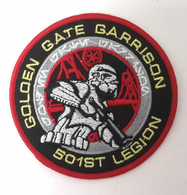 """Star Wars 501st Golden Gate Garrison Patch- 3.5""""- Mailed from USA (SWPA-KL-19)"""
