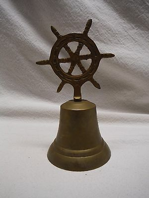 Brass Ship Wheel Handle Ship Bell