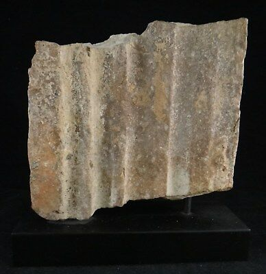 "Rare Roman Carved Stone Building Fragment, 1st to 4th c.  6 3/8"" wide & tall."