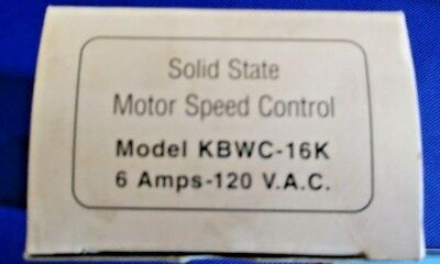 New In Box~Solid State Motor Speed Control~Model#kbwc-16K~6 Amp~12Ov.a.c.~Silver