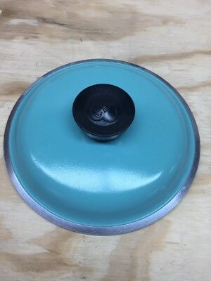 Vintage Club Turquoise Aluminum Replacement Lid Only  (A)