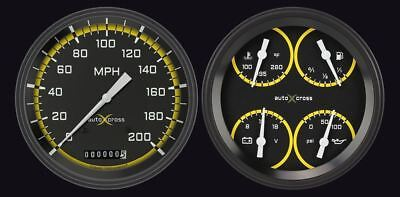 Auto Cross Yellow 1954-55 Chevy PU Gauges - Classic Instruments - CT54AXY52