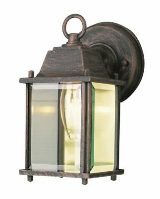 """8"""" Wall Lantern Lamp Light Traditional Vintage Glass for Indoor Outdoor Decor"""