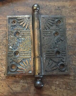 Original Antique Victorian Door Hinge Hinge Brass