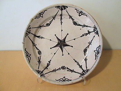 Plate earthenware garland star 18TH XIX° 18 19 century ceramic french