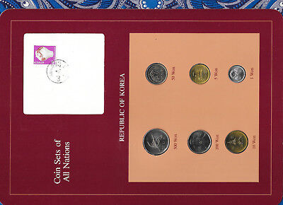 Coin Sets of All Nations Korea 1983-1987 UNC 10,50,100 Won 1987 500 Won 1984
