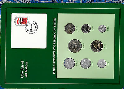Coin Sets of All Nations Yemen Dem. Rep. 8 coin 1964 - 1984 UNC 1 Fil '64 w/card