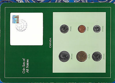 Coin Sets of All Nations Canada 1986-1988 $1 dollar Duck 1988 UNC 50 cents 1986