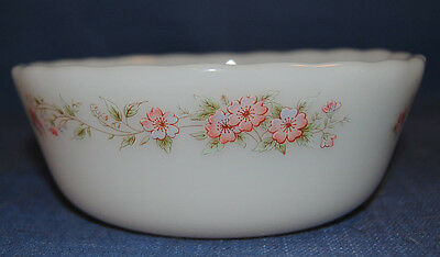 Vintage DYNASTY Ovenproof glassware bowl Baking Wedding Fairy Garden Flowers