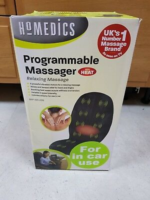 HoMedics Vibration Comfort Back Massage Chair Cushion with Heat & In Car Adaptor