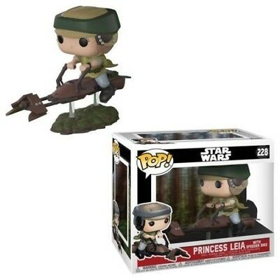 Star Wars  Princess Leia with Speeder Bike PoP 40th Anniversary Funko #228