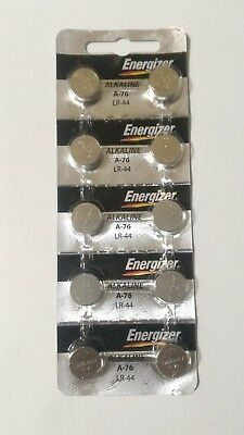 10 Fresh Genuine Energizer A76 LR44 AG13 357 157 303 Alkaline Battery Exp 2022