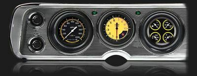 AutoCross Yellow 1964-65 Chevelle Gauges - Classic Instruments - CV64AXY